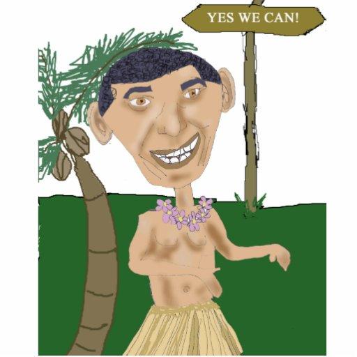 Obama Caricature Photo Sculpture