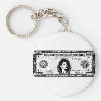 Obama Cash Basic Round Button Key Ring