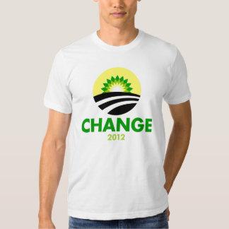 Obama Change 2012 T Shirt