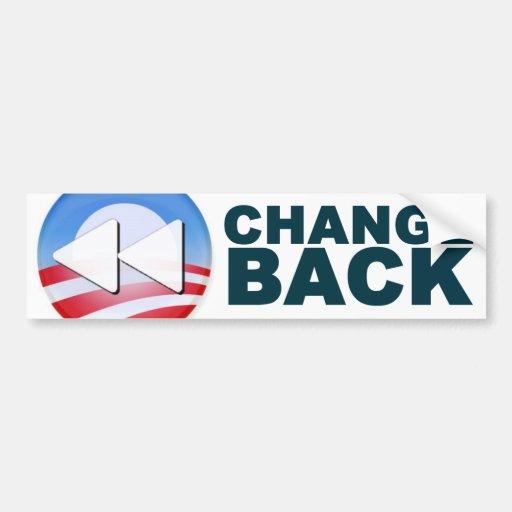 Obama: Change Back