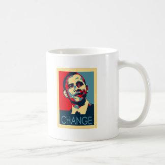 Obama Change Basic White Mug