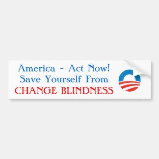Obama - Change Blindness Bumper Sticker