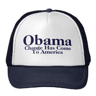 Obama - Change Has Come To America Cap