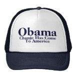 Obama - Change Has Come To America Mesh Hats