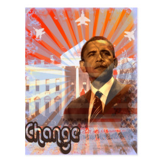 Obama Change Post Cards