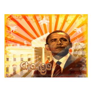 Obama Change Postcard