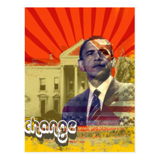 Obama Change - Postcard