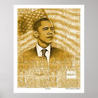 "Obama  ""Change"" Poster"