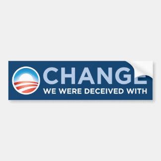 Obama-Change We Were Deceived With Bumper Sticker Car Bumper Sticker