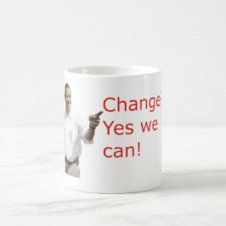 Obama Change Yes We Can Mugs