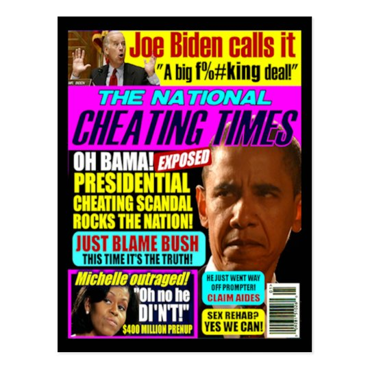 Obama Cheating Post Card