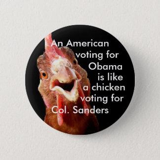 Obama Chicken Colonel Sanders 6 Cm Round Badge