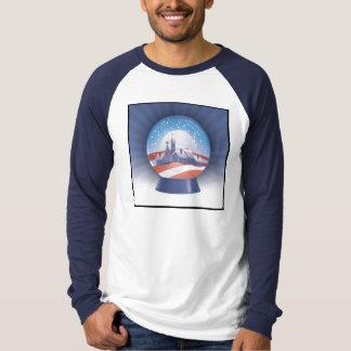 obama christmas - snow globe shirts