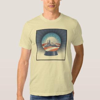 obama christmas -  snow globe t shirt