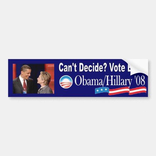 Obama/Clinton '08 Bumper Stickers