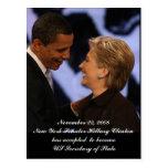 Obama - Clinton Inauguration Keepsakes Postcard