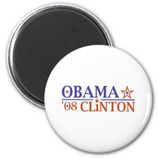 Obama Clinton Super Ticket 2008 6 Cm Round Magnet