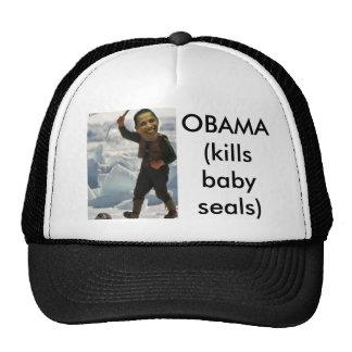 obama clubbing a seal, OBAMA (kills baby seals) Cap