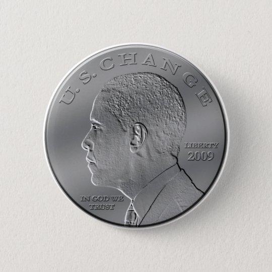 Obama Coin 6 Cm Round Badge