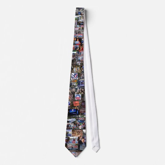 Obama Collage Tie