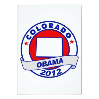 Obama - colorado 13 cm x 18 cm invitation card