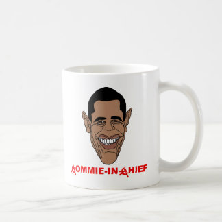 Obama: Commie-in-Chief Basic White Mug