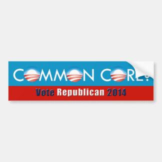 Obama Common Core Vote Republican Bumper Sticker