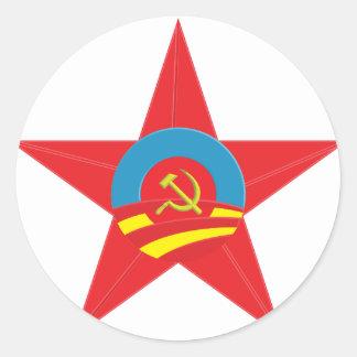 Obama Communist Star Round Stickers