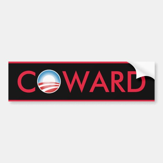 Obama Coward Bumper Sticker