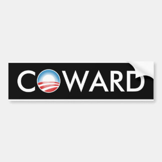 Obama Coward Bumper Sticker