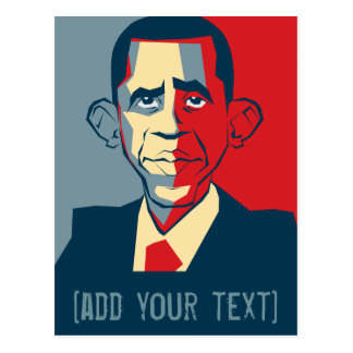 Obama custom text design postcard