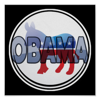 Obama Democrat Design Poster