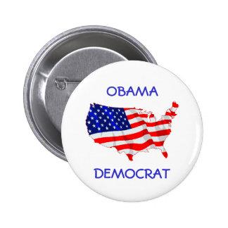 Obama Democrat flag button