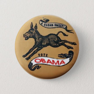 Obama Democratic Donkey Button