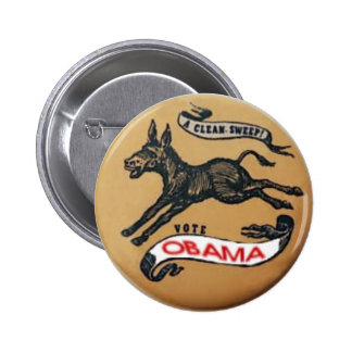 Obama Democratic Donkey Button