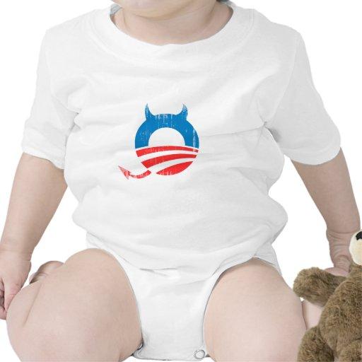 Obama Devil blue - Copy Faded.png Bodysuit
