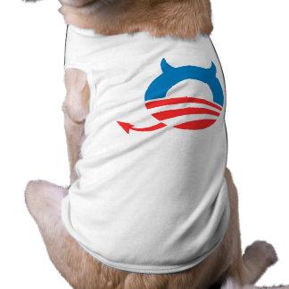 Obama Devil blue Doggie Tee Shirt