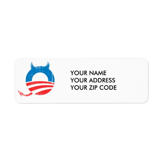 Obama Devil Return Address Label
