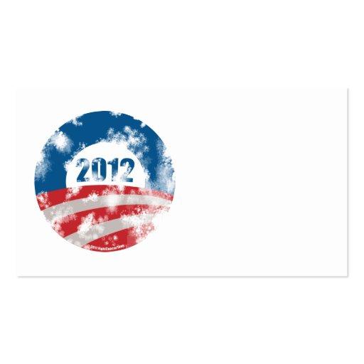 Obama Distressed Symbol Business Card