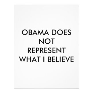 OBAMA DOES NOT REPRESENT WHAT I BELIEVE 21.5 CM X 28 CM FLYER