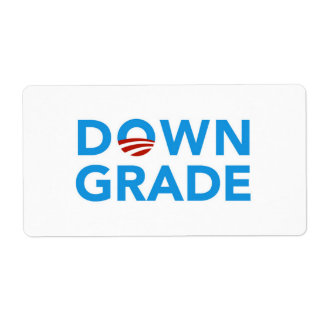 Obama Downgrade stickers Shipping Label