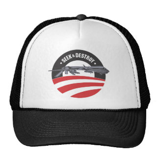 obama drone seek and destroy trucker hat