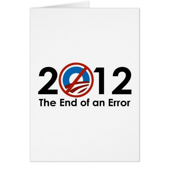 Obama End of an ERROR Card