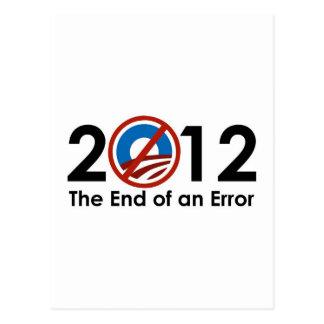 Obama End of an ERROR Postcard