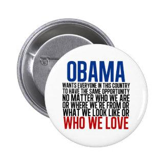 Obama & Equality 6 Cm Round Badge