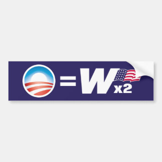 Obama Equals Bush Bumper Sticker