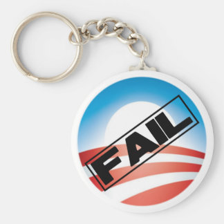 Obama: Fail Basic Round Button Key Ring