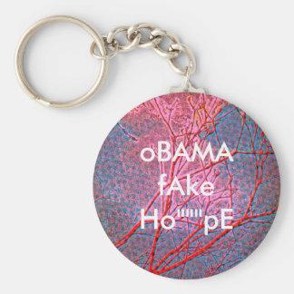 oBAMA fAKE HoPE Basic Round Button Key Ring