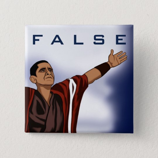 Obama False 15 Cm Square Badge