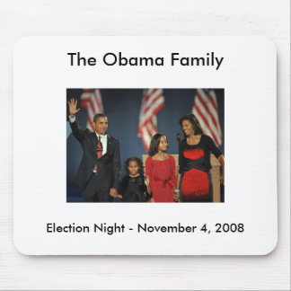 Obama Family Election Night Mouse Mats
